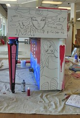Alice in Wonderland Piano - Work in Progress (heathermariecarr) Tags: streetart painting underground paint tea alice piano queen caterpillar publicart madhatter teaparty aliceinwonderland