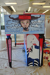 Alice in Wonderland Piano - Work in Progress (heathermariecarr) Tags: streetart painting underground paint tea alice piano queen caterpillar publicart madhatter teaparty aliceinwonderland catcheshire timepainted pianoxe3epxezepheatherundergroundheather grinshorelinepiano