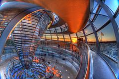 whirled_up (CONTROTONO) Tags: bridge light sunset red sky cloud color berlin tower beautiful germany spiral gold colorful exposure day afternoon sink terrace steel balcony air balloon capsule parliament indoor palace ceiling fisheye reichstag step dome colored drama rathaus rosso bundestag hdr soaking skyarchitecture controtono