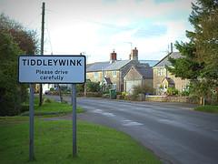 Viliage Sign (Welsh Harlequin) Tags: tiddleywink 15challengeswinner