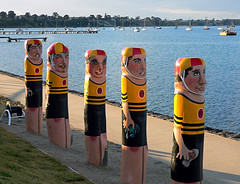Bollards Geelong Australia (10) by Bernard Spragg, on Flickr