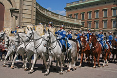 Changing of the Guard (April.Moulton) Tags: travel horses horse canon europe sweden stockholm candid streetphotography palace parade riding canon350d trumpets royalpalace changingoftheguard nationalgeographic candidphotography travelphotography