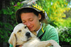 Berry (.:: Maya ::.) Tags: friends woman dog pet love girl beauty hat animal hug young retriever best golven mayaeye mayakarkalicheva маякъркаличева