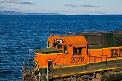 BNSF Locomotive. Seattle-Vancouver (vlad 54) Tags: orange water locomotive engineer bnsf tamron1750 sonya33