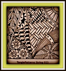 TPS#23 (Poppie_60) Tags: pen drawings doodle tangle zentangle zendoodle ziazentangleinspiredart tanglepatternstrings