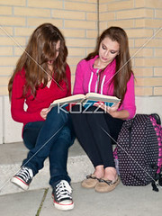 teenage girls studying together (edudrew8877) Tags: friends girl beautiful beauty modern female bag reading book togetherness concentration student education pretty sitting friendship fulllength teenagers learning companion studying twopeople casualwear preparations bonding teamwork caucasian schoolbag companionship youthculture casualclothing universitystudent 1617years teenagersonly legscrossedatknee onlygirls personineducation secondaryschoolchild teenagegirlsonly personinfurthereducation