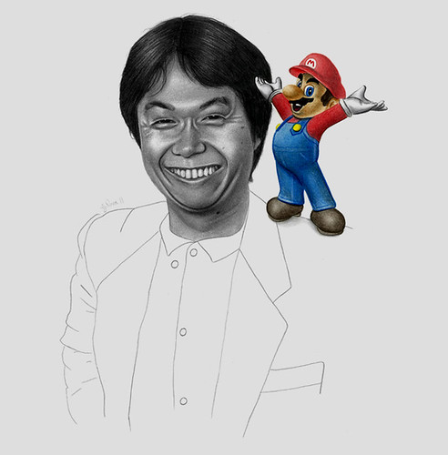 Shigeru Miyamoto, obra de George Nova