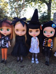 the girls visit the cemetery