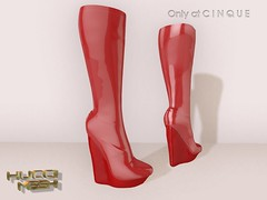 Cinque (Eboni Khan) Tags: winter red black fall leather belt boots sl secondlife blender avenue wedge cinque rendered baked zbrush avenuemodels hucci