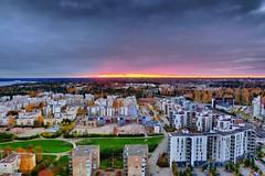 Autumn Sunset (timo_w2s) Tags: autumn sunset finland helsinki hdr cirrus vuosaari ruska