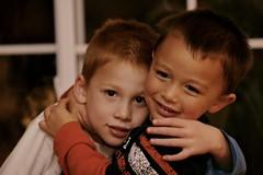 Big Hug Before Bedtime (Michael Bentley) Tags: portrait alex hug andrew speedlite canonef135mmf2lusm
