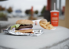 A&W BURG (Victoria Wozniak) Tags: food dinner lunch burger fastfood tasty depthoffield fries treat aw