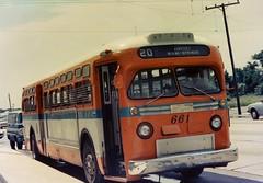 "Miami: MTA ""Dade County Metropolitan Transit Authority""  No. 661  (600 Series 1954,1956) 1956 GM TDH-5106 (ROGALI) Tags: bus airport florida miami mta 1956 omnibus guagua oldbus miamisprings miamiairport americanbus gmbus gmoldlook tdh5106"