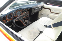 '77 Pontiac CanAm Interior (artistmac) Tags: show classic cars car freedom automobile muscle antique plymouth indiana pizza pontiac canam grinders in mancinos