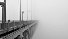 The Golden Gate (Griggetto) Tags: sf sanfrancisco california bridge blackandwhite bw usa fog landscape nikon goldengate sanfranciscobay nebbia westcoast 18105 d3000