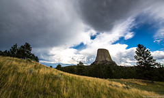 Storm Passing Devils Tower (Eric Hines Photography) Tags: summer sky wyomi