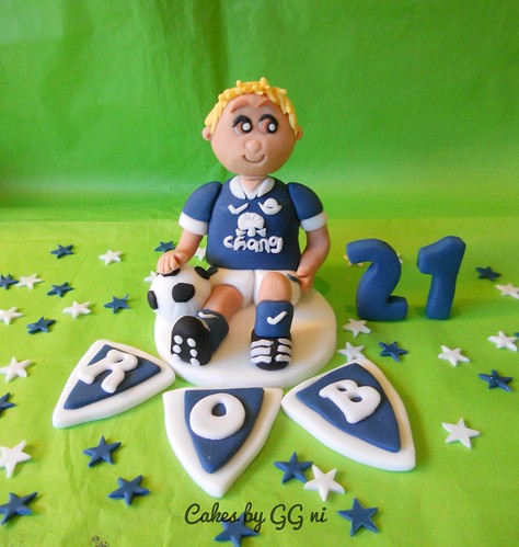 footballer Everton FC Cake topper decoration figure - a photo on ...