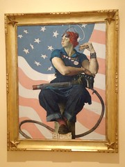"Bentonville AR, 26 Oct 2012.  Crystal Bridges Museum.  Rockwell's ""Rosie the Riveter"""