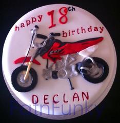 Dirt bike cake (Fatnfunky cakes & art) Tags: birthday red black bike cake honda silver 18th birthdaycake dirtbike wwwfatnfunkycom