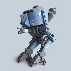 Ma.K // F-Zwo - Feuer Stampfer (Fredoichi) Tags: robot lego space military walker micro mecha mak mech maschinenkrieger biped microscale fredoichi