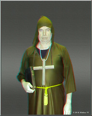 Halloween Monk (starg82343) Tags: stereoscopic 3d cross robe preacher father monk anaglyph stereo bible hood pastor parson minister friar chaplain rector stereoscopy stereographic clergyman manofthecloth hieromonk