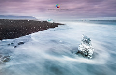 Ice on jokulsarlon by: Guillermo Casas (Guille.) Tags: lake ice beach landscape lago photography blacksand photo nikon foto playa paisaje hielo circular jokulsarlon fotografa jokull jokullsarlon neutraldensityfilter heliopan arenanegra d700 guillermocasasbaruque guillermocasas guillecasas fotografodebilbao