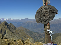 044 - here since 1930 (TFRARUG) Tags: mountain lake alps cross hike aosta ibex avic dondena