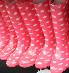 PINK BOOTS (conespider) Tags: pink water female walk rubber rubberboots