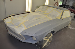 "S code 1969 Mustang Mach 1 390 4 speed Fastback Restoration Ready For Paint • <a style=""font-size:0.8em;"" href=""http://www.flickr.com/photos/85572005@N00/8150765850/"" target=""_blank"">View on Flickr</a>"