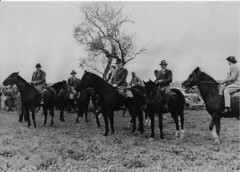 Coursing  L.Kevin Hall, Reg Manning, ADC to Governor, Sir Willoughby Norrie, Hedley Pratt, Cliff George,Varley Hancock, Joan Richter at the  Waterloo Cup, Reeves Plains.