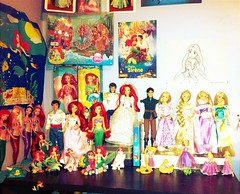 My Ariel and Rapunzel dolls corner <3 (French_Disney_Princess) Tags: ariel store eric doll princess little parks disney collection mermaid rider rapunzel flynn tangled uploaded:by=flickrmobile flickriosapp:filter=iguana iguanafilter
