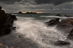 Fade to Grey (yadrad) Tags: sunset coast rocks surf waves shingle devon southhams southdevon crabrock heybrookbay rushback
