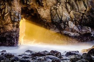 Beaming, Pfeiffer Beach Arch