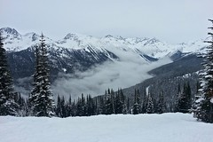 New Snow (Whistler Whatever) Tags: winter sky snow mountains clouds whistler day skiing powder harmony blackcomb