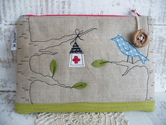 Little Treasure - front (monaw2008) Tags: house tree bird leaf branch handmade first aid fabric pouch applique monaw monaw2008