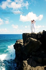 Fly away (Pixelinthebox) Tags: wedding sea wild cliff love couple honeymoon amour mariage mauritius falaise sauvage lunedemiel ilemaurice trashthedress pixelinthebox julienvenner