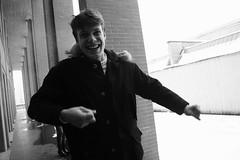 (-giulia) Tags: school winter boy snow monochrome smile fun happy memories happiness teen laugh stupid michelangelo michi sme