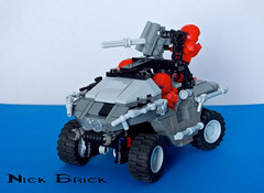 Halo 4 Warthog (Nick Brick) Tags: brick gun lego 4 nick machine halo fav hog turret m12 spartan warthog lrv unsc brickarms brickwarriors