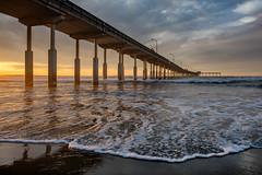 OB Pier 2 (mojo2u) Tags: ocean california sunset beach pier sandiego oceanbeach nikon2470mm nikond800