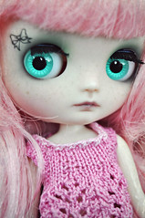 Little Bow (Lawdeda ) Tags: pink friends fun little d adorable plan an best size have every sd bow blythe middle francoise epic pinkandgreen in ananassa yummyness my sammydoe