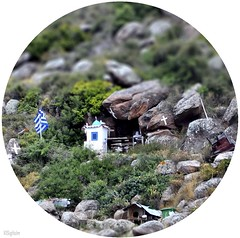 Answer to: Where in The World is Carmen Sandiego? - Quiz-Guess! (SigHolm - Very Busy) Tags: island guess hellas greekweek greece quiz saronic poros 2012 saronicgulf carmensandiego tiltshift grikkland leikur  eyja   ellaa spurningaleikur hvarercarmensandiego grskvika