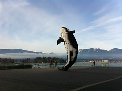 IMG_5145 (Sweet One) Tags: canada mountains vancouver bc harbour britishcolumbia whale douglascoupland pixellated digitalorca