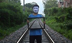 The Mask Of Sanity (Anshul Roy) Tags: mask nikon d3200 nikond3200 photoshop people peoplephotography humanphotography humans india creative