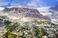 Aerial view of Skardu (anbajwa) Tags: aerialviewofskardu skardu gilgitbaltistan northerenareaofpakistan city mountains river asimnisarbajwa anbajwa nikon flickr awesome photography pakistan