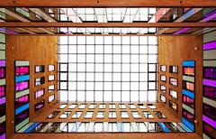 Elbfenster (jonashellmann) Tags: windows architecture port crane squares mosaic fenster hamburg architektur backlit hafen kran elbe rectangles gegenlicht hanse habour grose mosaik symetrie elb strase quadrate hafenkran rechtecke