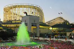 Playland Amusement Park (floralgal) Tags: playlandpark ryenewyork playlandamusementparkryenewyork rollercoaster dragoncoasterplayland duskatplaylandparkinryenewyork colorfulfountainatryeplayland flowergarden longislandsound westchestercountynewyork nationalregisterofhistoricplaces