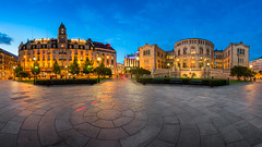 Panorama of the Grand Hotel and Parliament of Norway in the Evening, Oslo, Norway (ansharphoto) Tags: architecture blue building capital city cityscape darkness dusk europe european evening gate government grand historic historical history hotel house iconic illuminated johans karl landmark lights monument municipal night nordic norway norwegian oslo outdoor outside pano panorama parliament politics scandinavia sky skyline square storting stortinget street town travel twilight urban yellow