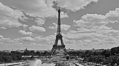 bonjour Paris (Jordi sureda) Tags: paris monochrome blancoynegro torreeiffiel france jordisureda sky cielo nuves amor blackandwhite blackwhite nikon nikkor