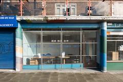 Claim To Artistic Fame (photosam) Tags: london england unitedkingdom fujifilm xe1 fujifilmx raw lightroom xc1650mm13556ois xc1650mmf3556ois newcross shopfront damienhirst goldsmiths yba