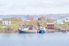Change Islands Harbour, Newfoundland (Bill Hertha) Tags: boat building fishinghut seascape vehicle harbour fishing